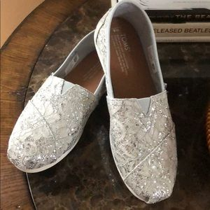 TOMS Sequined Slip On - Size 8